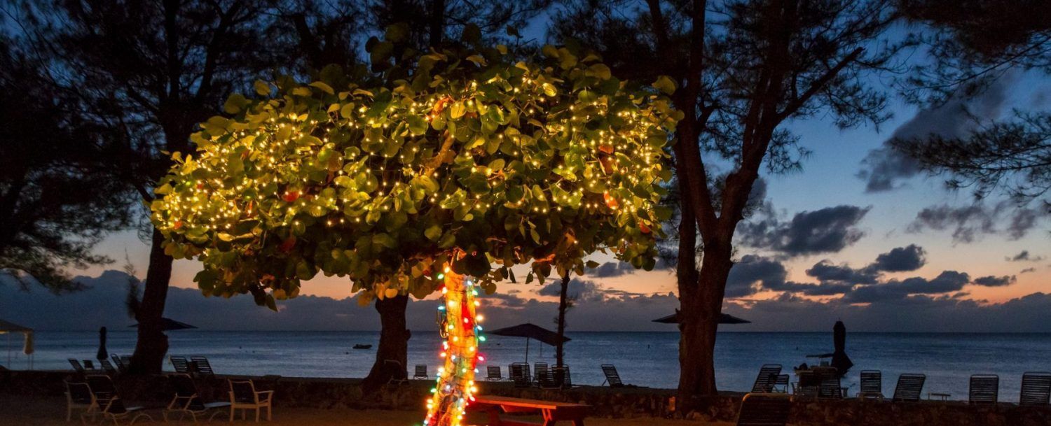 Decorations celebrating holidays in the Cayman Islands