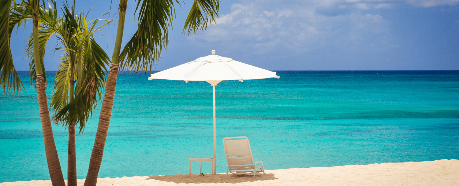 Beach chair at the grand cayman condo and house rentals