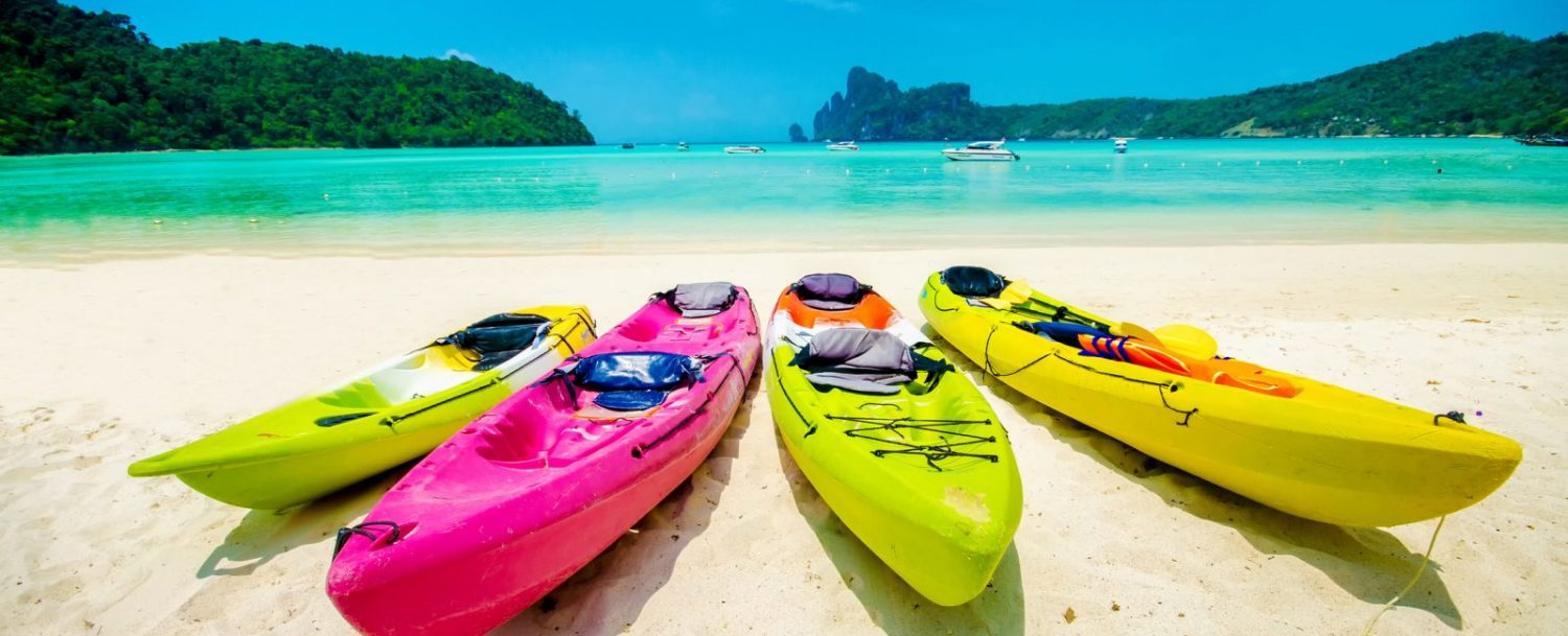 Getting ready for kayaking with Cayman Sea Elements