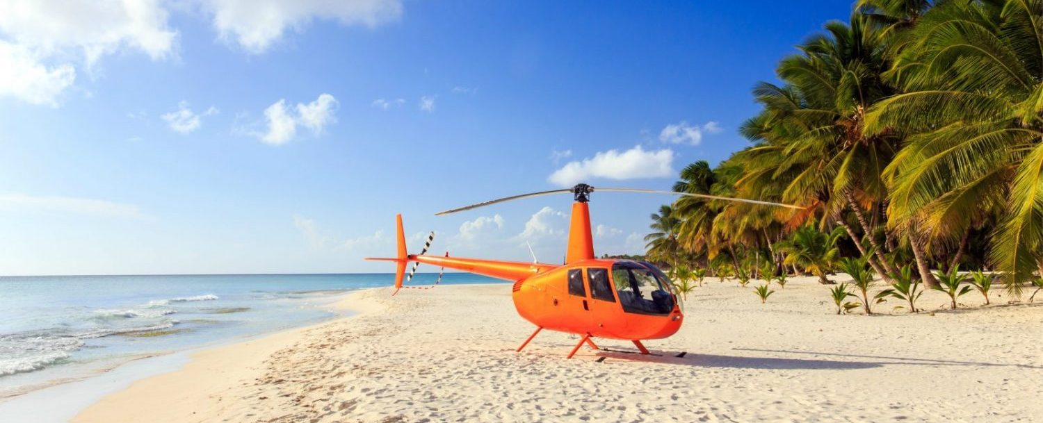 Enjoying a Grand Cayman helicopter tour