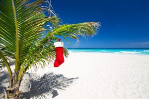 beach christmas stocking