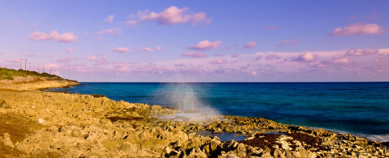 blowhole on the East End of the Cayman Islands
